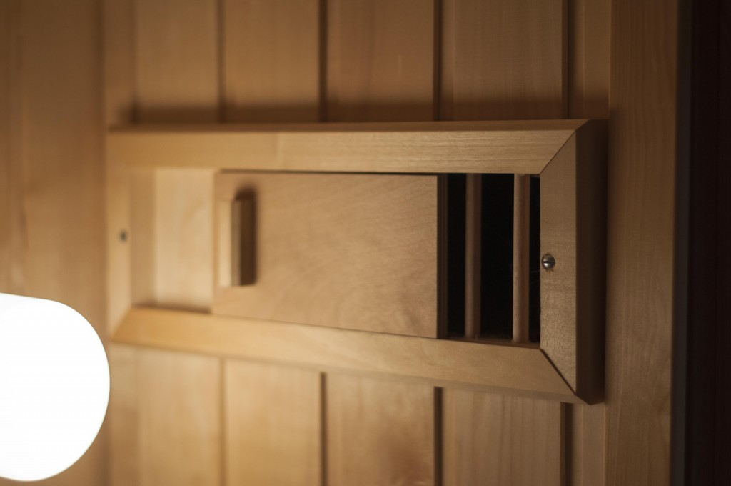 Build a sauna with no prior experience shutters details