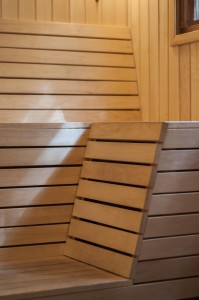 Build a sauna with no prior experience interior details bench